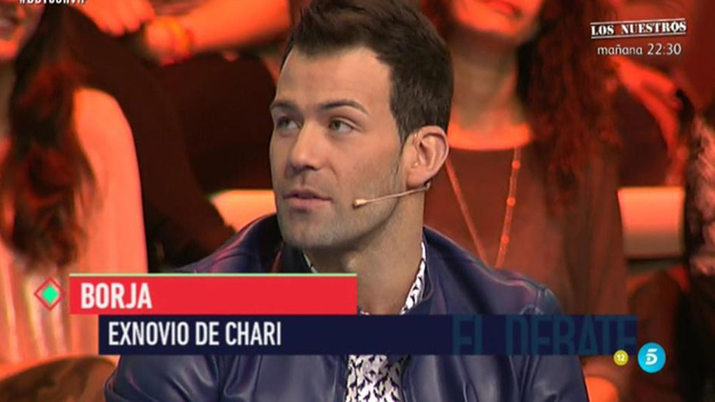 """Borja, exnovio de Chari: """"No puedo enfadarme porque no estamos juntos"""""""