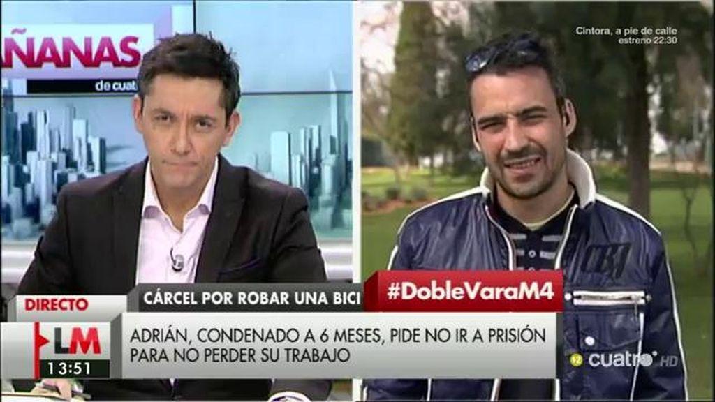 Adrián pide su indulto para no ir a la cárcel por robar una bicicleta de alquiler público