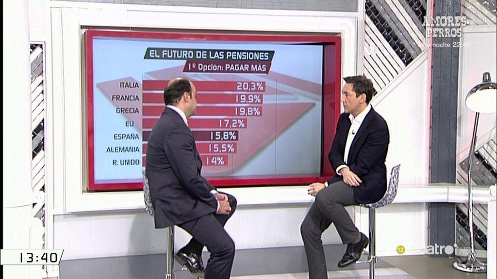 J.C. Díez analiza la situación de las pensiones: O se aumentan los salarios o habrá que hacer recortes