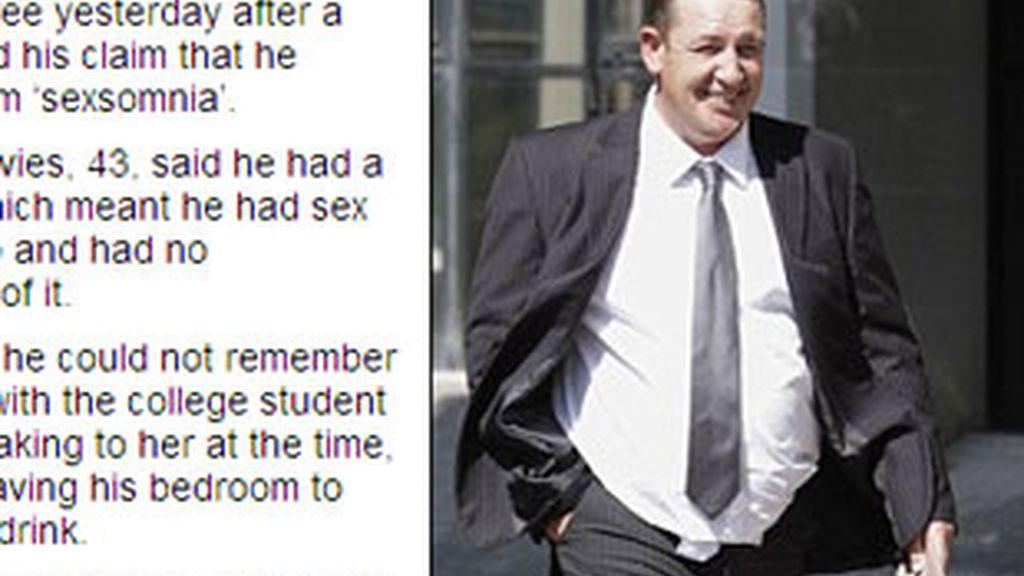 Absuelto de violar a una menor porque lo hizo mientras estaba dormido. Foto: Daily Mail.