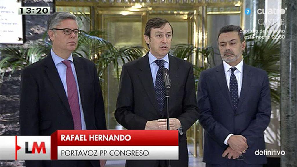 """Rafael Hernando: """"Llevamos cumplido más del 83% de los compromisos"""""""