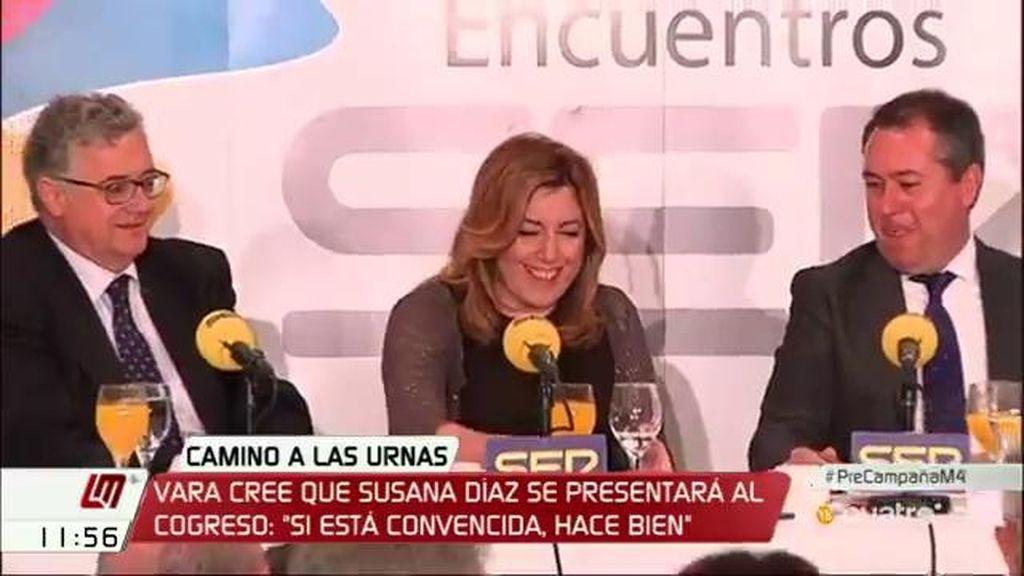 """Susana Díaz: """"Me voy a dejar la piel para que Pedro Sánchez sea presidente"""""""