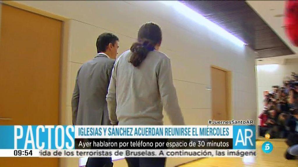 Pedro Sánchez y Pablo Iglesias se reunirán el próximo día 30 de marzo