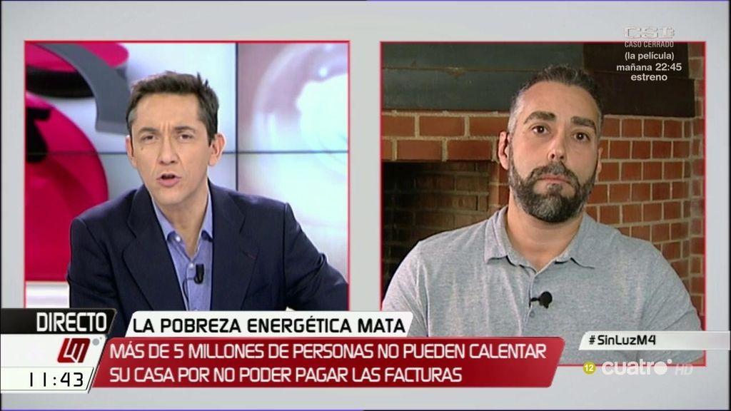 """Rubén Sánchez afirma desde Facua que los políticos """"trampean las leyes que prohíben los cortes de luz"""""""