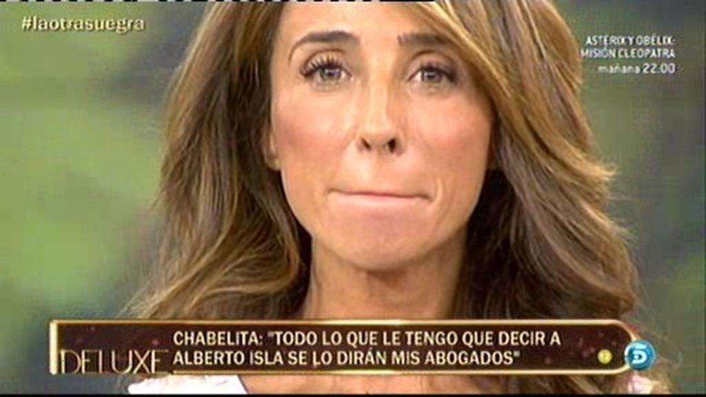 """Chabelita: """"Lo que tenga que decirle a Alberto Isla será a través de mis abogados"""""""