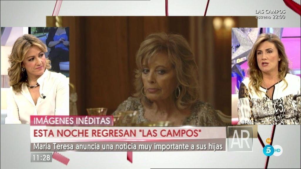 """Carlota Corredera: """"Vamos a ver a las Campos más frescas y naturales que nunca"""""""