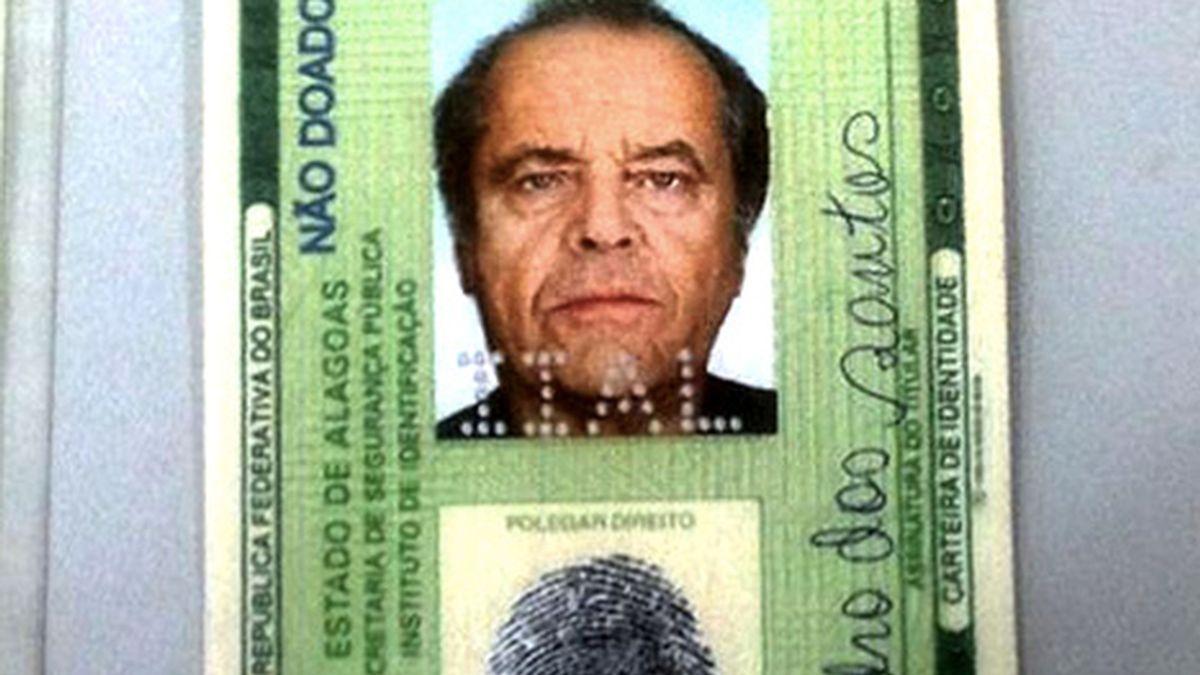 Falso Jack Nicholson, carné de identidad