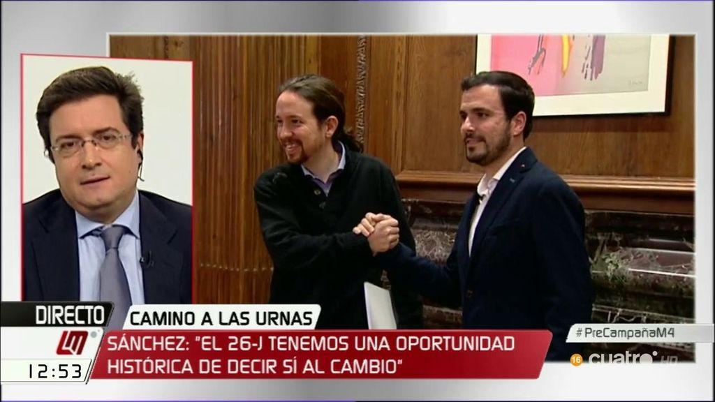 """Óscar López: """"Si van juntos, Podemos con IU sacará menos votos que Podemos solo el 20 de diciembre"""""""