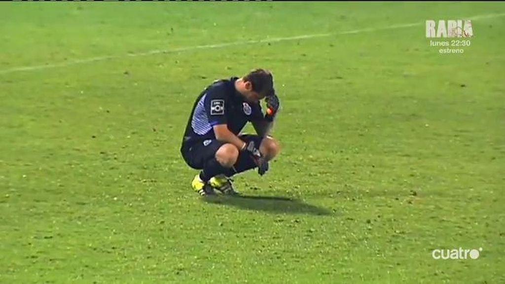 Casillas se enfada tras el fiasco del Oporto