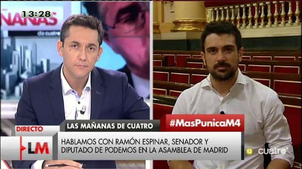 """Espinar, de Aguirre: """"Es verdad que no pudiera saberlo todo, pero no cuela que no supieran nada de nada"""""""