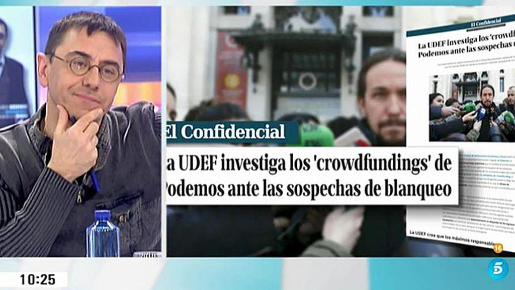 La financiación de Podemos, a examen