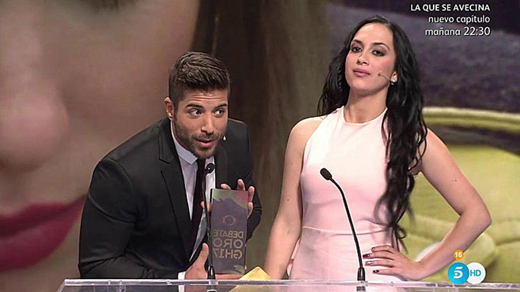 Alain y Meritxell premiados con el galardón 'Atracción fatal de GH 17'