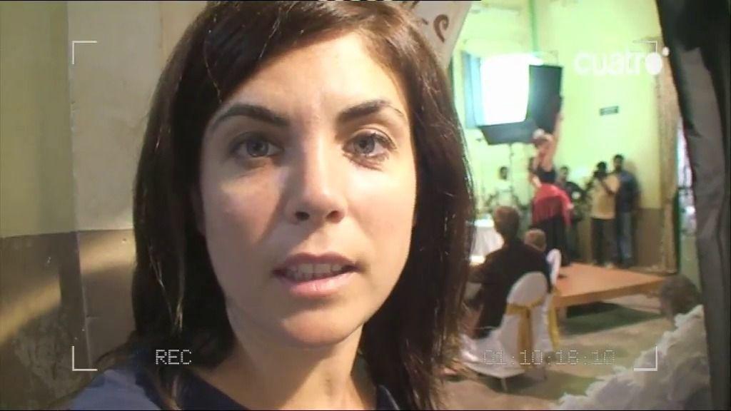 Samanta Villar, con la primera española en debutar en Bollywood