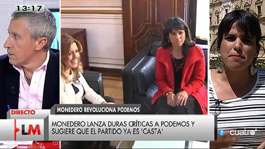 """T. Rodríguez, de la investidura de Díaz: """"Vamos a votar no hasta que se acepten las tres condiciones que planteamos"""""""