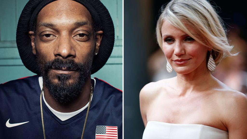 Cameron Diaz y el rapero Snoop Dogg