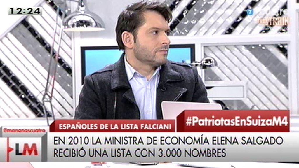 "E. Segovia, sobre la Lista Falciani: ""Hay reyes, deportistas, modelos... de todo"""