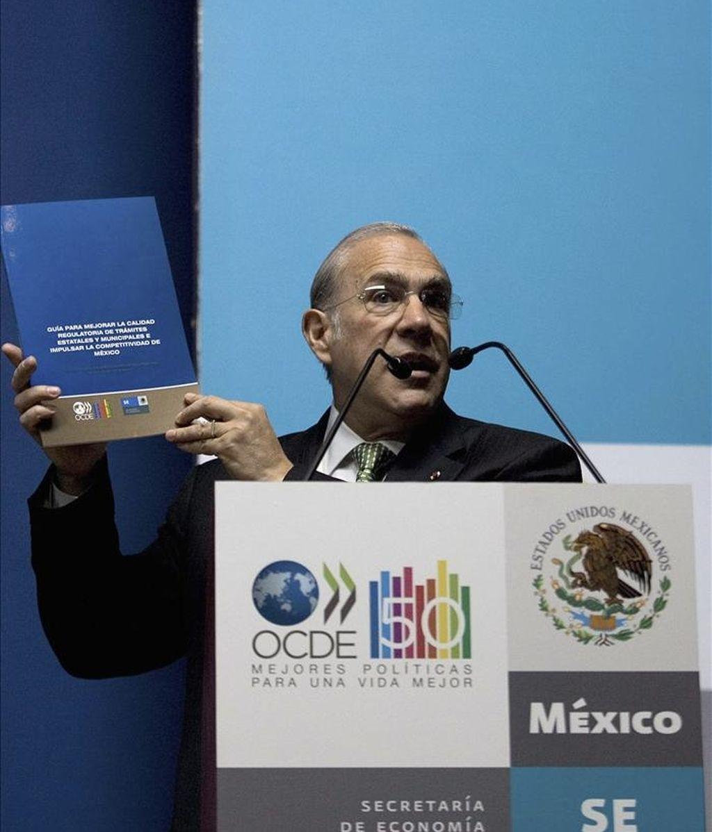 El secretario general de la Organización para la Cooperación y el Desarrollo Económico (OCDE), José Ángel Gurría. EFE/Archivo