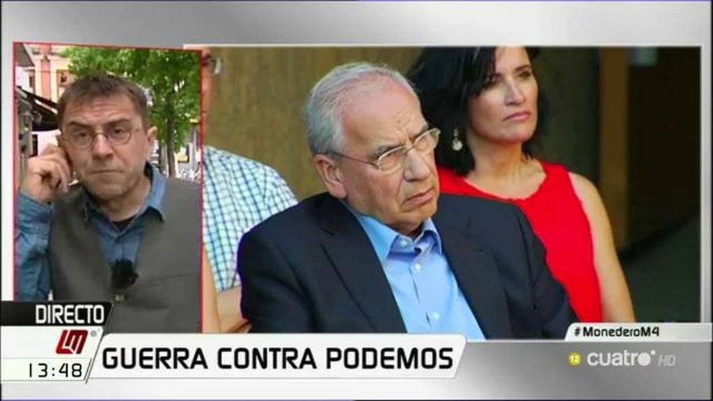 """Monedero, de Guerra: """"Si lo que le queda al PSOE es sacar a viejas glorias no creo que puedan convencer a los votantes """""""