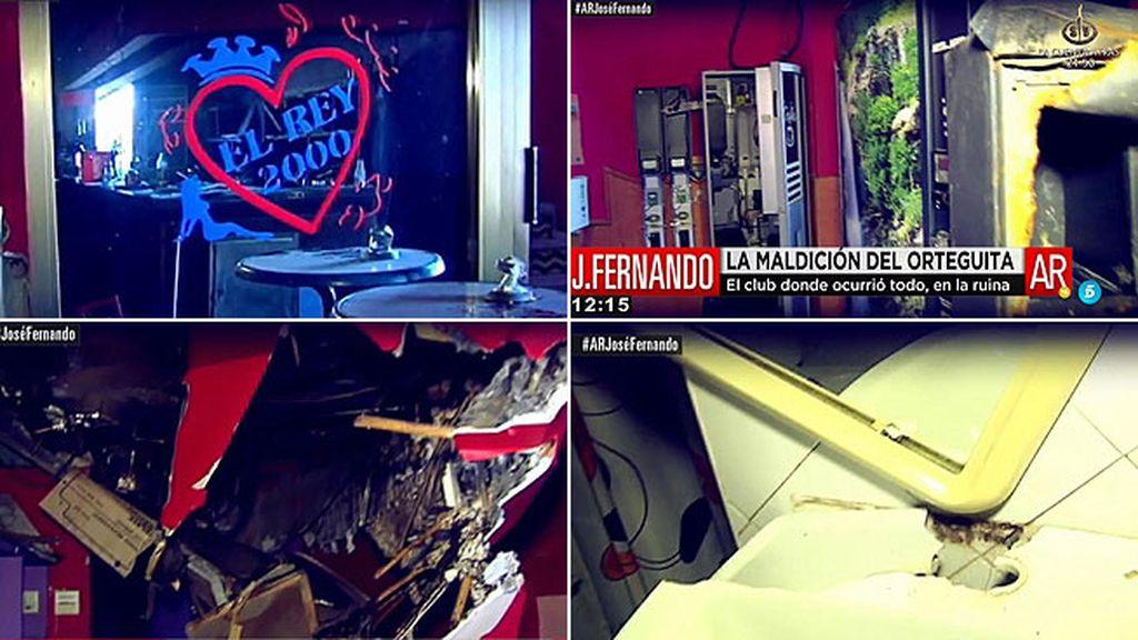 'El Rey 2000', el prostíbulo donde J. Fernando agredió a un joven, en la ruina