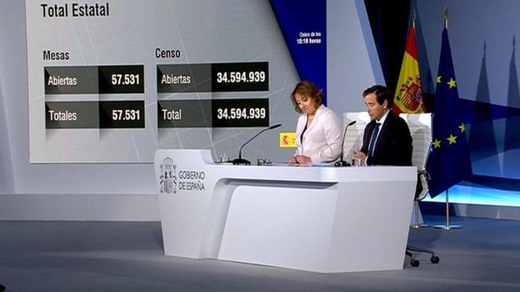 """El Gobierno destaca la """"absoluta normalidad"""" en la apertura de los colegios electorales"""
