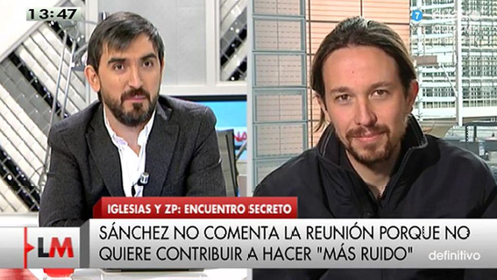 """Pablo Iglesias: """"Creo que Tania Sánchez está siendo víctima de una campaña de ataques"""""""