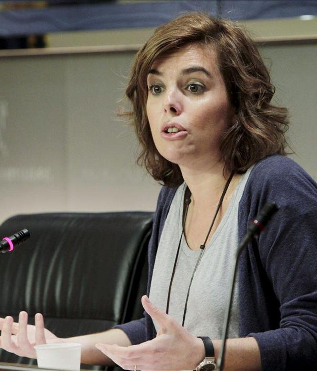 La portavoz del PP en el Congreso de los Diputados, Soraya Sáenz de Santamaría. EFE/Archivo