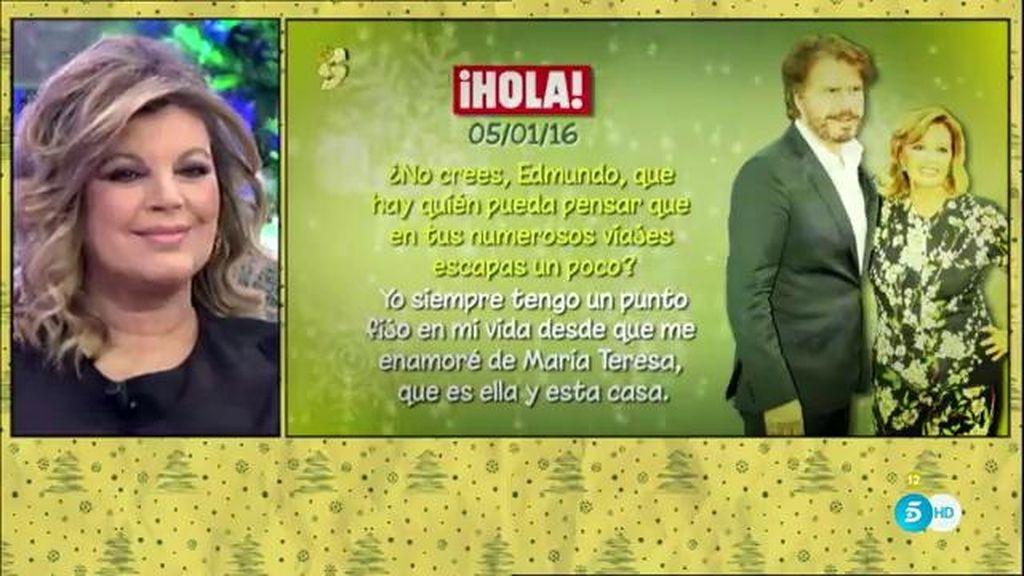 """Mª Teresa Campos, en 'Hola': """"Edmundo y yo no hemos tenido ninguna crisis"""""""