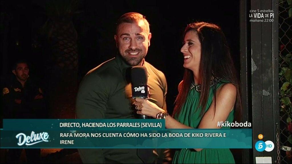 """Rafa Mora: """"Isabel Pantoja ha sido natural, se ha relacionado con todos en la boda"""""""