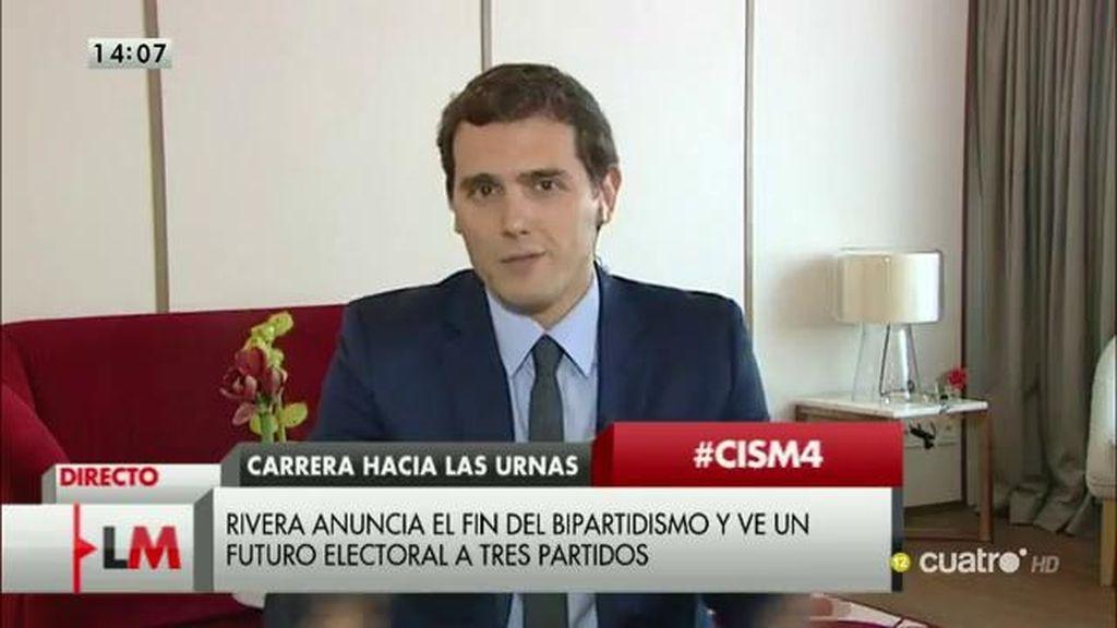 "Albert Rivera: ""No vamos a apoyar a Rajoy o a Sánchez, vamos a intentar ganarles"""