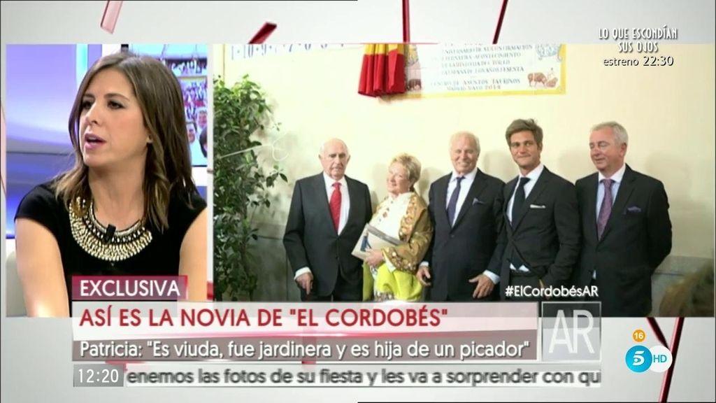 """Patricia: """"La novia de 'El Cordobés' es viuda e hija de un picador"""""""