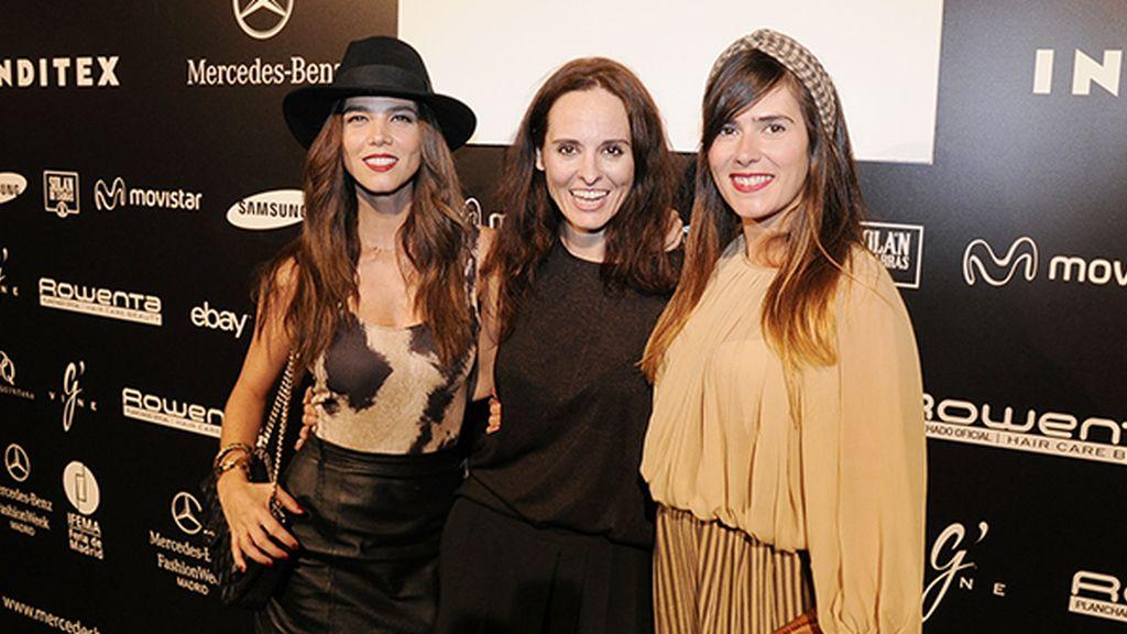 Ana Locking con dos admiradoras de su trabajo: las actrices Juana Acosta y Ana Allen