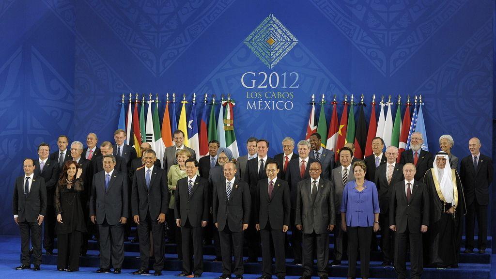 Foto de familia de la cumbre del G20 en Los Cabos