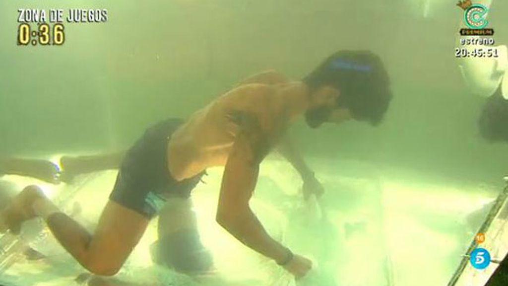 Isaac gana la prueba de apnea, la mítica de 'Supervivientes'