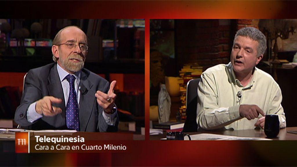 José Manuel Nieves hace telequinesia en el plató de 'Cuarto Milenio'