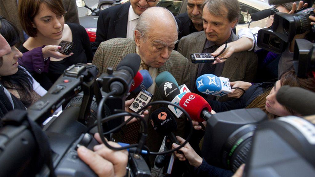 Jordi Pujol en el homenaje a Santiago Carrillo en Barcelona
