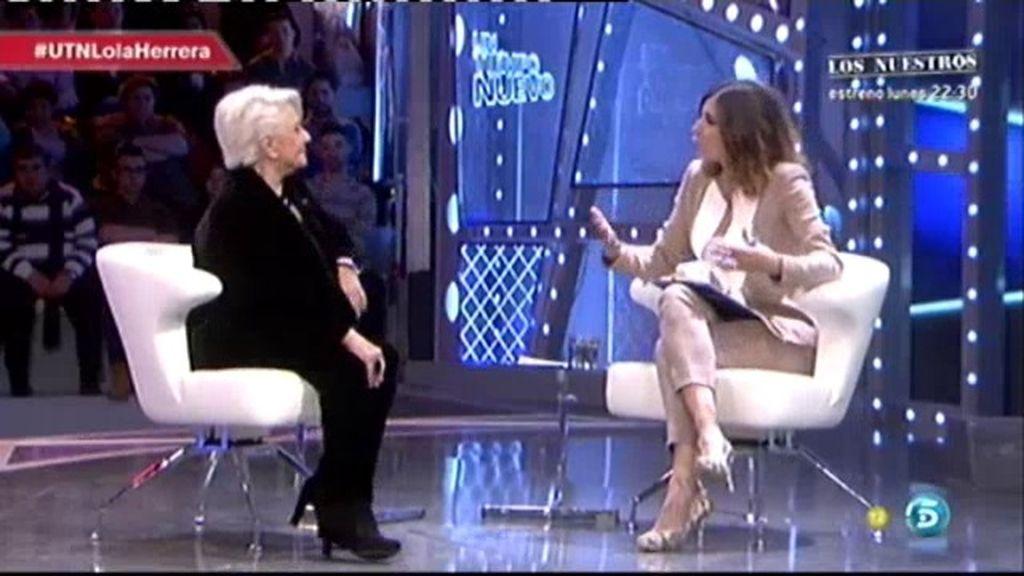 """Lola Herrera, sobre Pablo Iglesias: """"Es bueno que haya nuevos líderes"""""""