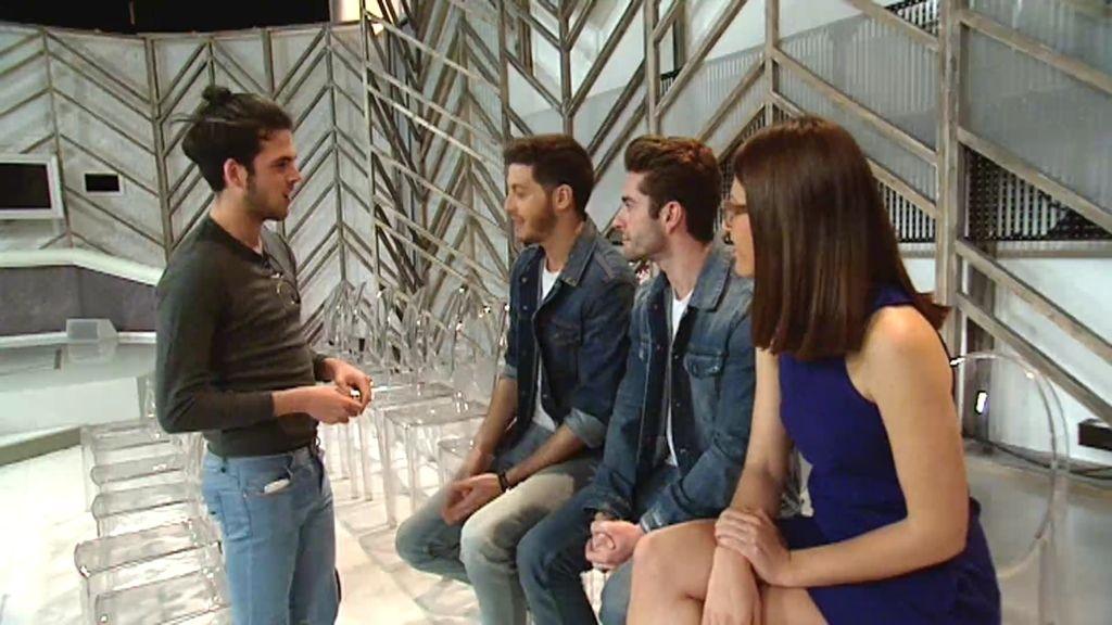 Núria Marín y Nando Escribano sorprenden a Alejandro en un plató de Telecinco