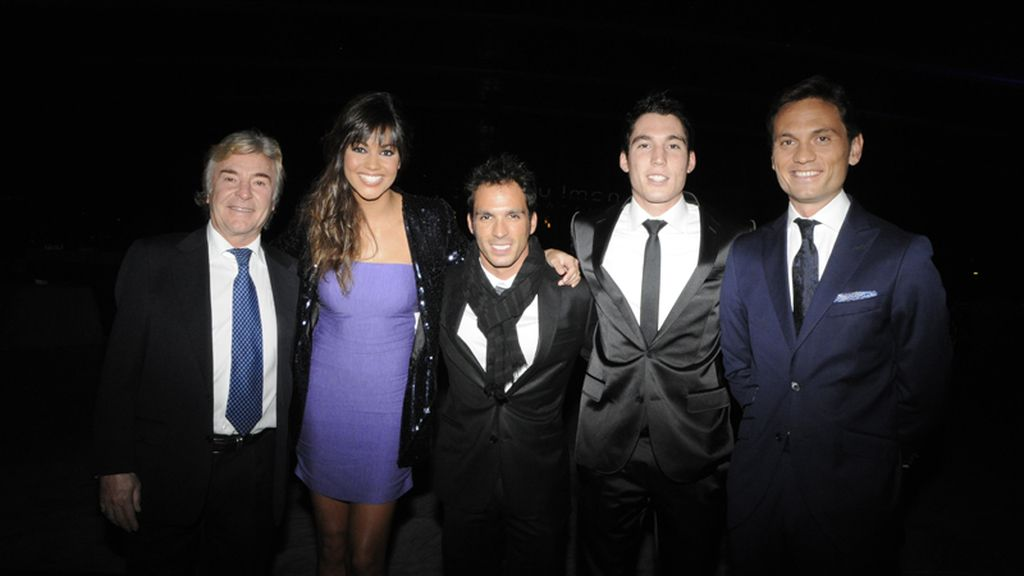 Ángel Nieto, Lara Álvarez, Toni Elias, Aleix Espargaró y Marco Rocha