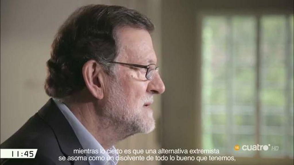 """Mariano Rajoy: """"Una alternativa extremista se asoma como un disolvente de lo bueno que tenemos"""""""