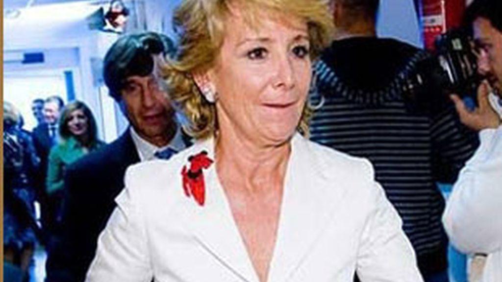 Las declaraciones de la presidenta de la Comunidad de Madrid, Esperanza Aguirre. Video: Informativos Telecinco