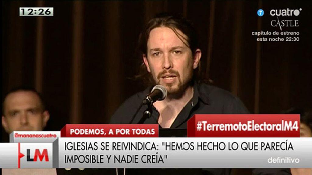"""Pablo Iglesias: """"No voy a cortarme la coleta, no voy a ser como ellos"""""""