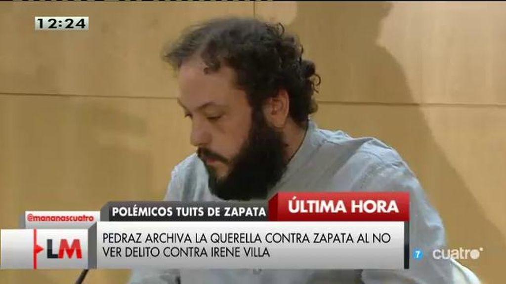 Pedraz archiva la querella contra Zapata
