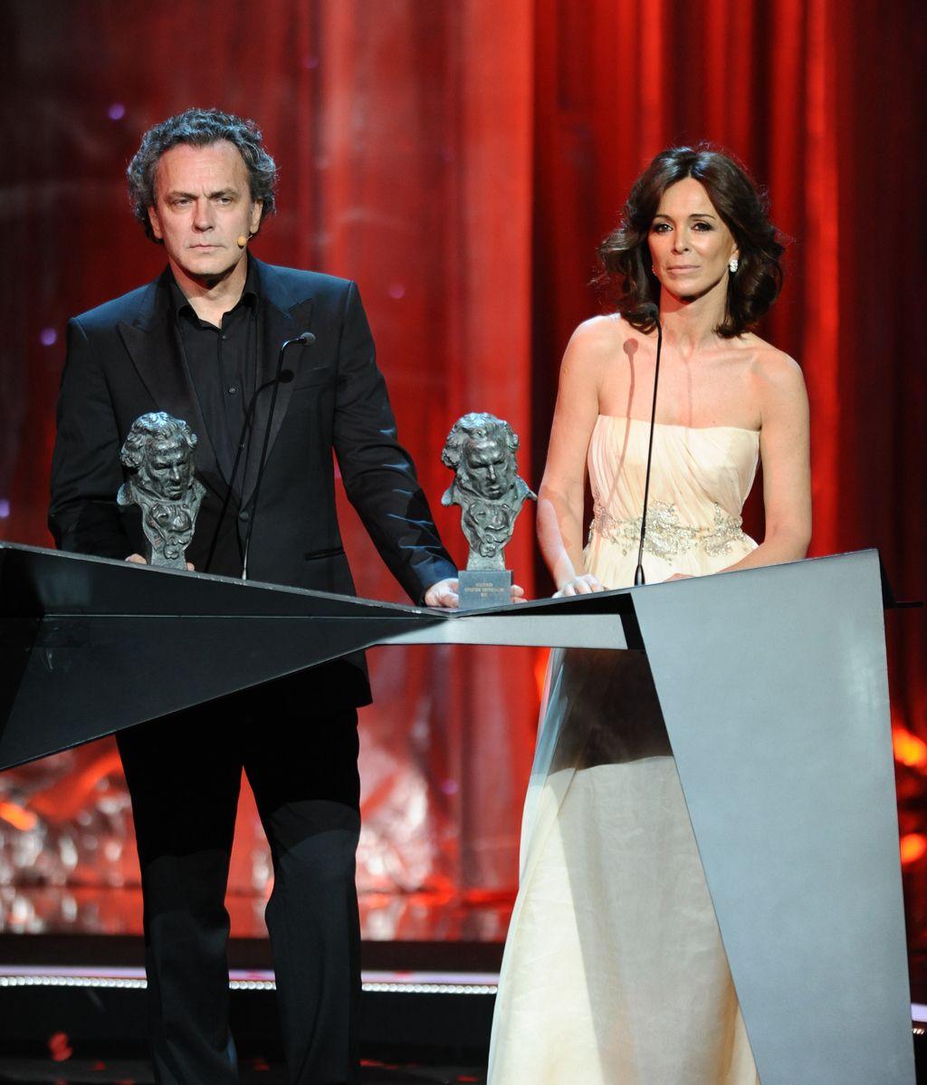 En los Premios Goya 2011, con Lydia Bosch
