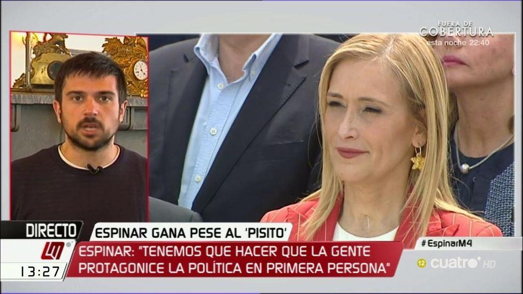 """Ramón Espinar: """"Estamos viendo en las encuestas el enfado del electorado socialista"""""""