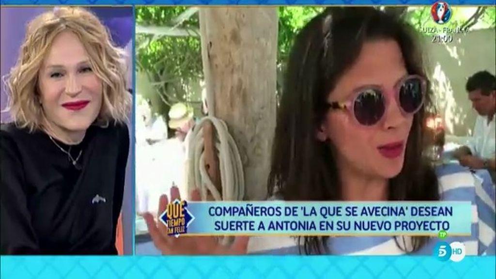 Macarena Goméz y otros actores de 'LQSA' mandan un mensaje a Antonia San Juan