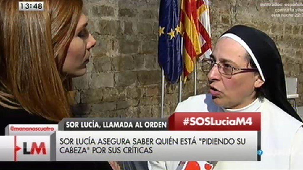 """Sor Lucía Caram: """"El gobierno puede negar lo que quiera, estamos acostumbrados a que se niegue la evidencia"""""""
