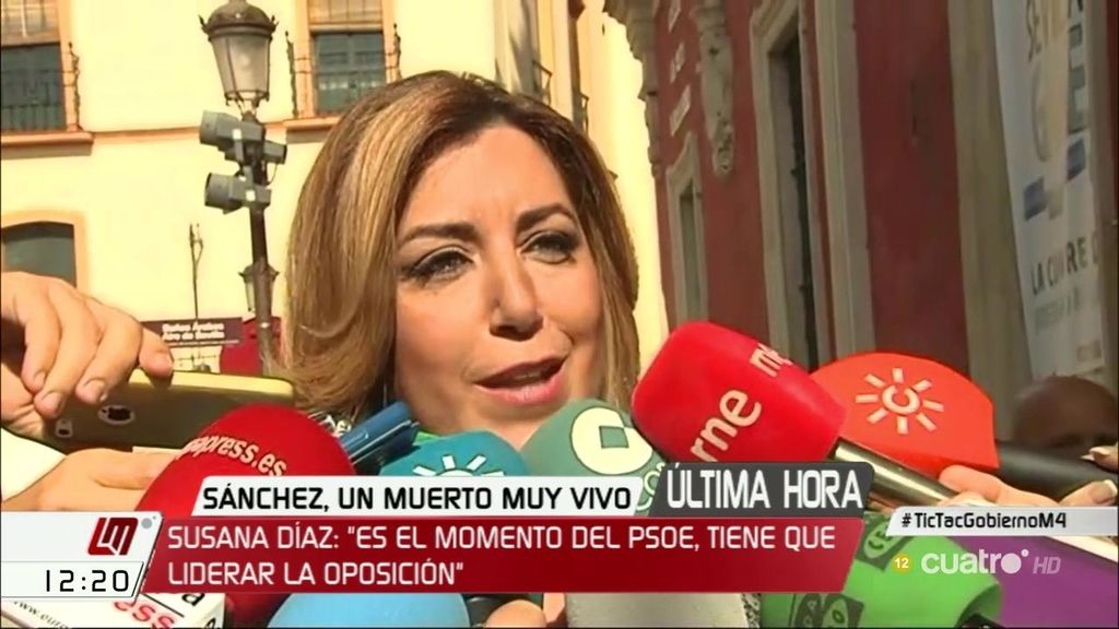 """Susana Díaz cree que el proyecto del PSOE tiene que ser """"autónomo de la derecha y de Podemos"""""""