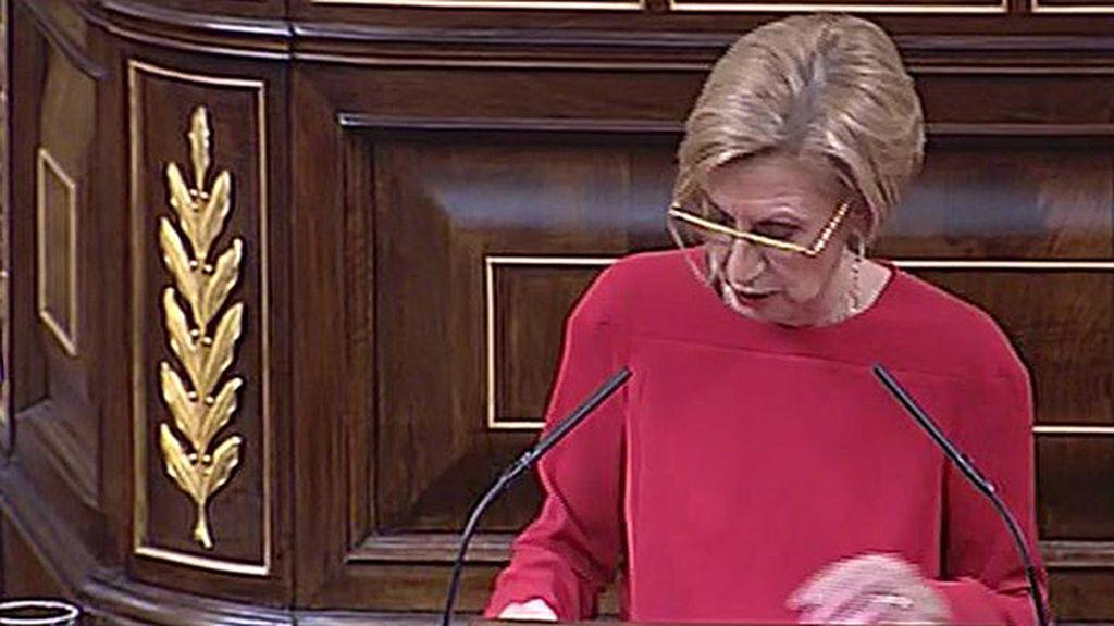 """Rosa Díez, a Mariano Rajoy: """"Si el ejemplo de la ministra Mato es el que hay que seguir ¿Se lo va a aplicar usted?"""""""