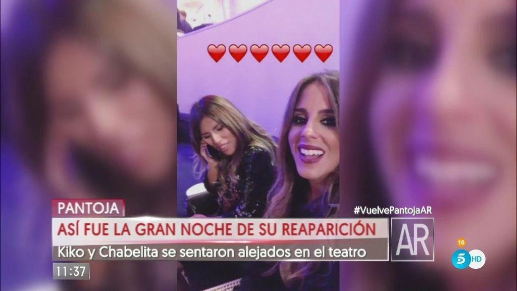 Kiko Rivera y Chabelita se sentaron separados en el concierto de su madre