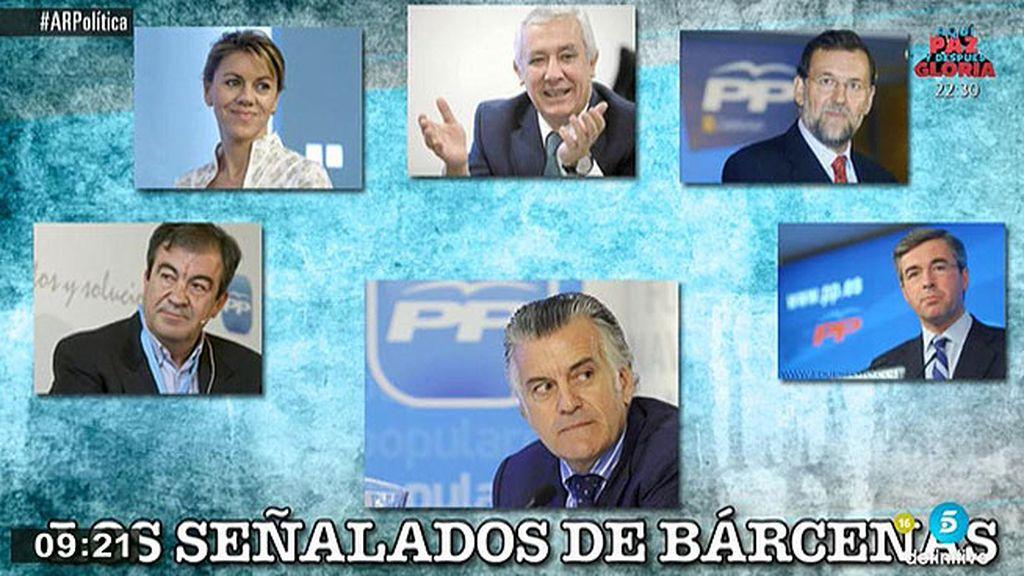Cascos, Cospedal, Acebes, Arenas y Rajoy: los señalados de Bárcenas